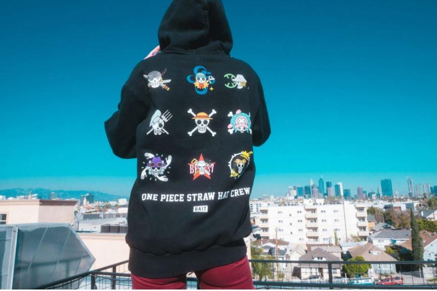 Black shirt from BAIT X One Piece Capsule